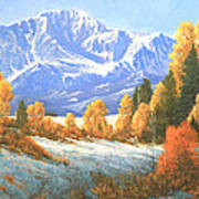Autumn's Song - Pikes Peak 111119-1836 Poster