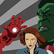 Avengers Assemble Poster by Lisa Leeman