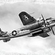 B25 In Flight Poster