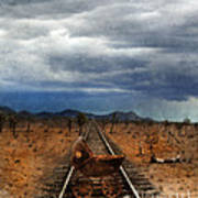 Baby Buggy On Railroad Tracks Poster