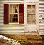 Back Door Of Old Farmhouse Poster
