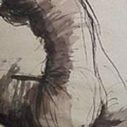 Back Torso - Sketch Of A Female Nude Poster