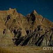 Badlands Moonlight Poster by Chris Brewington Photography LLC