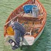 Bailey's Bay Fishing Dinghy Poster
