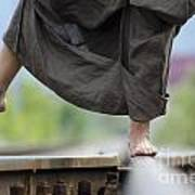 Balance On Railroad Tracks Poster
