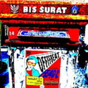 Bali Graffitied Funky Postbox Poster