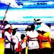 Balinese Beach Funeral  Poster