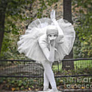 Ballerina In The Park Poster