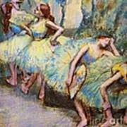 Ballet Dancers In The Wings Poster by Pg Reproductions