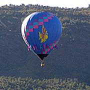 Balloon In Weber Canyon Poster