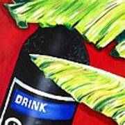 Banana Leaf Series - Barq's Rootbeer Poster by Terry J Marks Sr