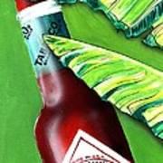 Banana Leaf Series - Tabasco Bottle Poster by Terry J Marks Sr