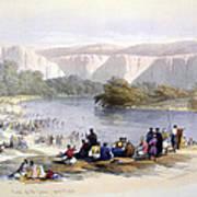 Banks Of The Jordan, 1839, Lithograph Poster
