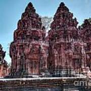Banteay Srei Temple Central Towers  Poster