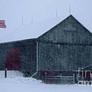 Barn In Winter Poster