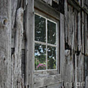 Barn Window Reflection Poster