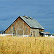 Barn With Stormy Skies Poster