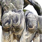 Baroque Statue - Detail - Backside Poster by Michal Boubin