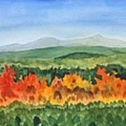 Barton Vermont Autumn Poster
