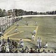Baseball, 1866 Poster