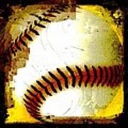 Baseball Abstract Poster