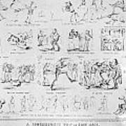Baseball Cartoons, 1859 Poster