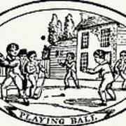 Baseball Game, 1820 Poster