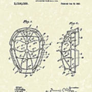 Baseball Mask 1912 Patent Art Poster by Prior Art Design