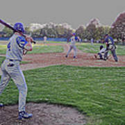 Baseball On Deck Digital Art Poster