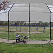 Baseball Warm Ups Digital Art Poster