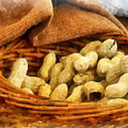 Basket Of Peanuts Poster