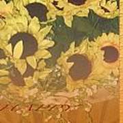 Basket Of Sun Shine Card Poster