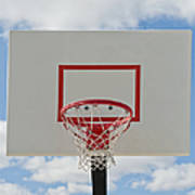 Basketball Backboard With Hoop And Net Poster