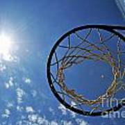 Basketball Hoop And The Sun Poster