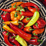 Basketful Of Peppers Poster