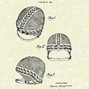 Bathing Cap 1936 Patent Art Poster by Prior Art Design