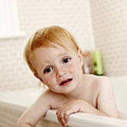 Bathing Child Poster