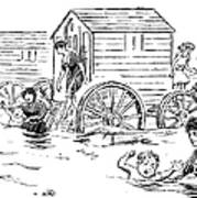 Bathing Machine, 1888 Poster