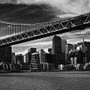Bay Bridge And San Francisco Downtown Poster