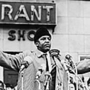 Bayard Rustin 1912-1987, Speaking Poster by Everett