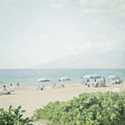 Beach At Wailea  Poster