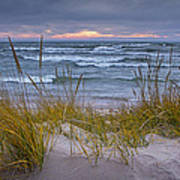 Beach By Holland Michigan No 0192 Poster