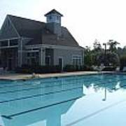Beach Club And Pool At Tega Cay Poster