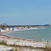 Beach Day On Honeymoon Island Poster
