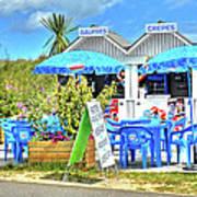 Beach Food Shack France Poster