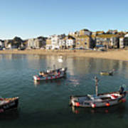 Beach Front, St Ives, Cornwall Poster