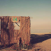 Beach Hut Number Fourteen Poster by Laurie Search
