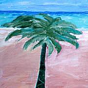 Beach Palm Poster