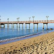 Beach Pier In Marbella Poster