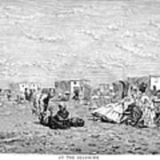 Beach Scene, 19th Century Poster